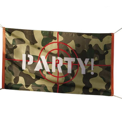 Camouflage partyvlag