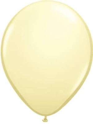 Ballon metallic ivoor