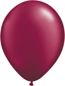 Ballon metallic bordeaux rood