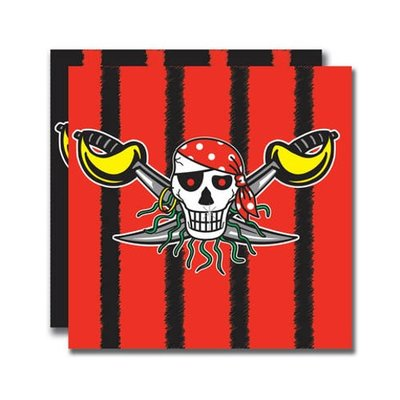 Piraten servetten Red Pirate